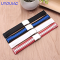 Quality silicone watchband 21mm black white replacement rubber strap fot T048