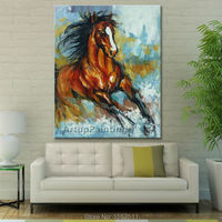 Oil painting On Canvas Wall Pictures For Living Room Wall Art Canvas Pop art Running Horse modern abstract hand painted paint