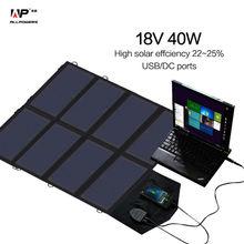 Солнечное Зарядное Устройство 18 В 40 Вт Солнечной Телефона/Планшета/Ноутбука/Автомобильное Зарядное Устройство для iPhone Samsung iPad Lenovo Dell HP Vaio 12 В Автомобильного Аккумулятора