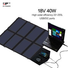 Solar Charger 18V 40W Solar Phone/Tablet/Laptop/Car Battery Charger for iPhone Samsung iPad Lenovo Dell HP Vaio 12V Car Battery