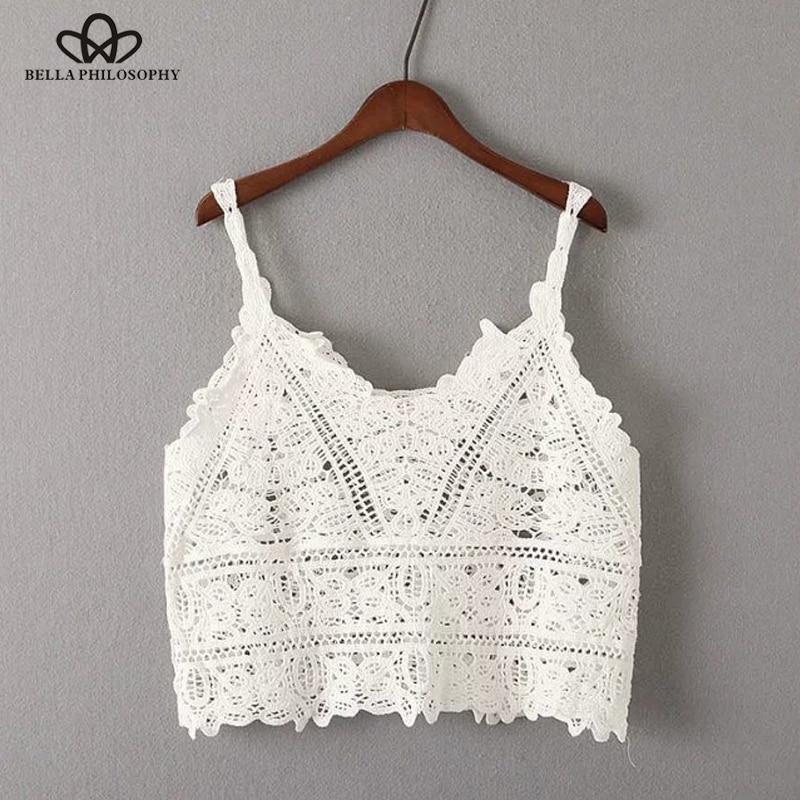 Bella Philosophy 2018 spring summer crop top women t shirt Crochet condole beach|women t-shirt|top womencrop top - AliExpress