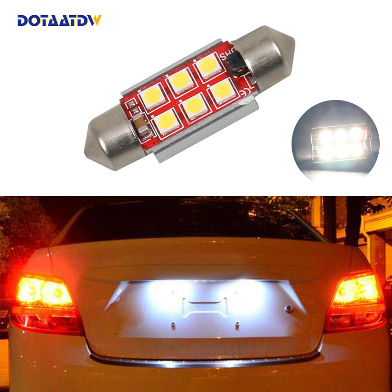 US $2 27 43% OFF|DOTAATDW 1x CANbus LED 36mm C5W Lamp Bulb Registration  Number Plate License Light For Kia Sportage Cerato-in Car Light Assembly  from