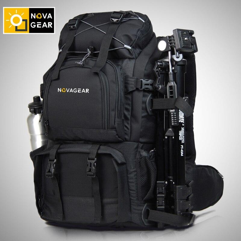 NOVAGEAR 80302 doppio-spalla sacchetto della macchina fotografica impermeabile antiurto per esterni di grande capacità SLR sacchetto della macchina fotografica mettere 17 pollici del computer portatile
