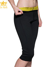 Cn Herb Roseate Women's Slimming Pants Body Shaper Thigh Shapewear Sweat Capris Neoprene Free Shipping цены онлайн