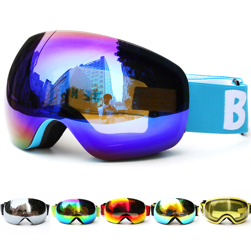 Benice UV cut crease lightness Enhanced luminosity ski glasses Snowboard goggles for weak Light tint Cloudy Weather for men цены