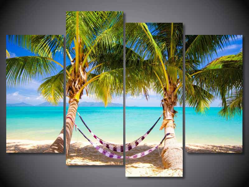 Tropical Wall Art Por Hammocks Lots From