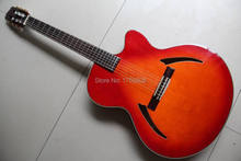 New classical electric guitar China Guitar cherry classic guitar top quality Orange 120630