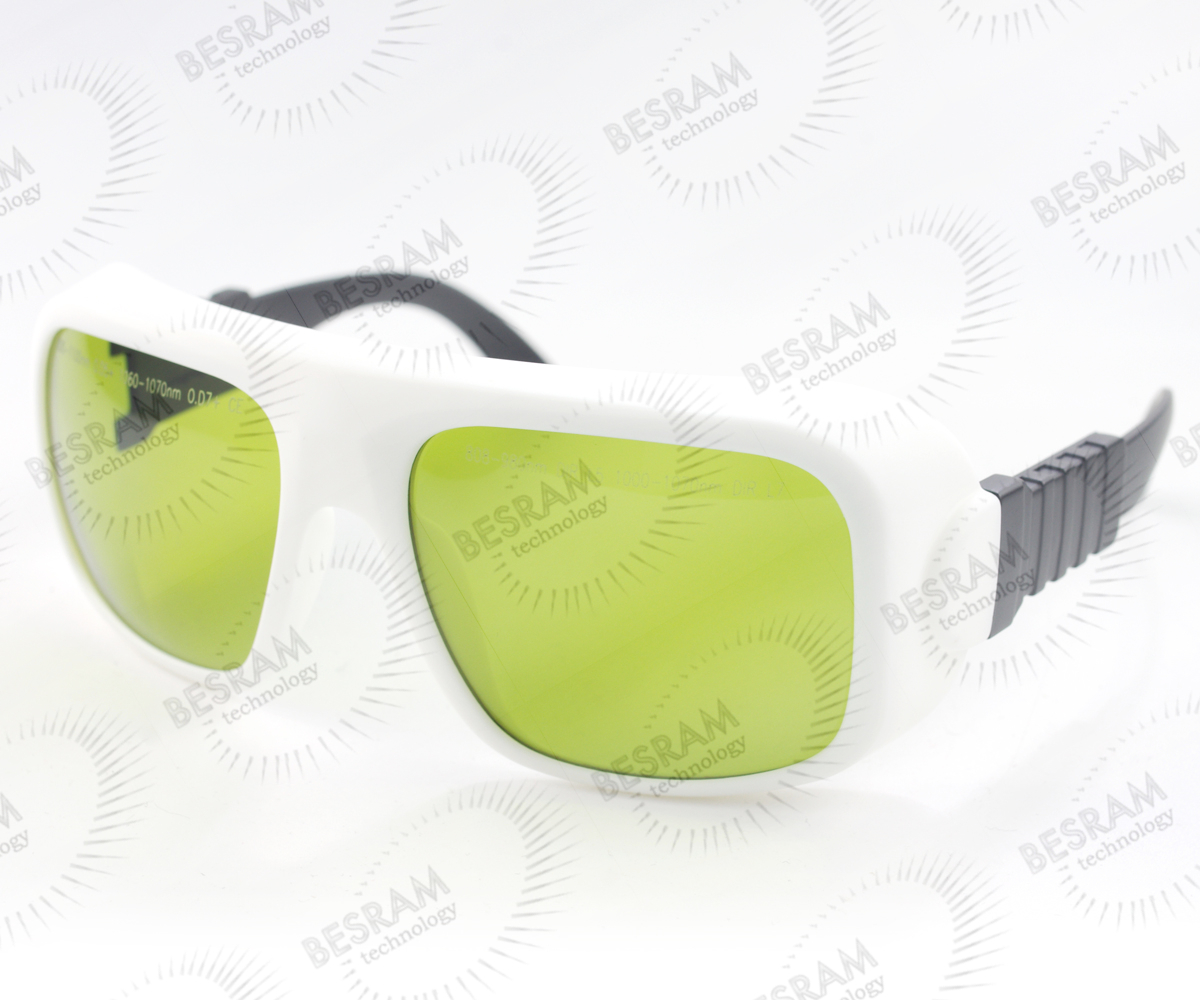 Laserland LP-YHP-36 800nm-1100nm OD5+ 1060nm-1070nm OD7+ Laser Protective Goggles Safety Glasses 36#