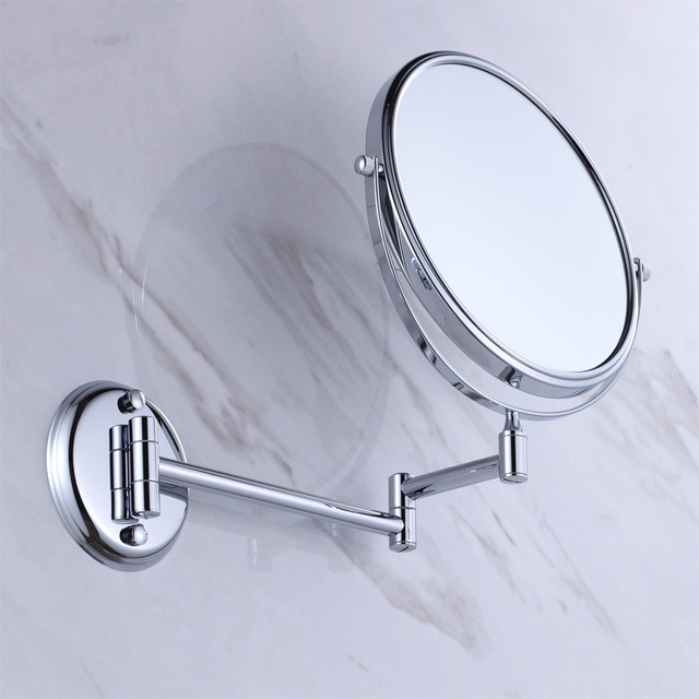 Wall Mounted Beauty Mirror Br 1 3 Magnification With Flodable Extension Arm Chrome