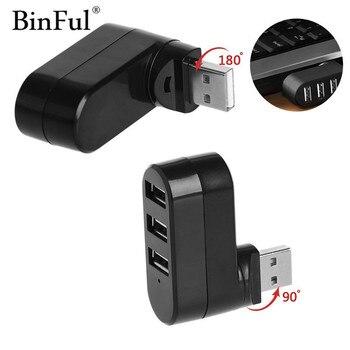 BinFul-adaptador/USB divisor giratorio de alta velocidad para Notebook/tableta, ordenador, PC, periféricos, 3...