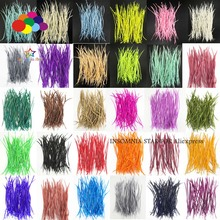 30 цветов гусиные перья 20-25 см 8-10 дюймов тщательно обработанный гладкокрашеный Diy маска для костюма головной убор