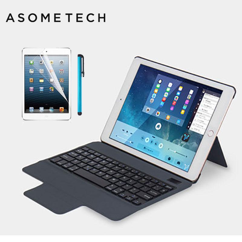 Senza fili di Bluetooth 3.0 Cassa Della Tastiera Per iPad Mini 1 2 3 4 Protezione Completa Tastiera Portatile Del Basamento Astuta Tablet Copertura capa + regalo