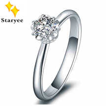 Certified 0.5CT VS D color Charles Colvard Moissanite Engagement Ring Genuine 18K White Gold Women Diamond Jewelry Au750 Stamp - DISCOUNT ITEM  11% OFF Jewelry & Accessories