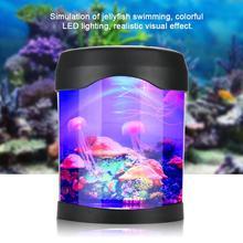 Led Jellyfish Tank Sea 3d Multicolor Aquarium Fish World Night Light exdCrBo