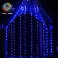 Coversage 2 х 3 М 240 Светодиодов Занавес Открытый Праздник Рождество Чистый Свет Декоративные Кортина Luces Navidad рождество Строка Фея гирлянды