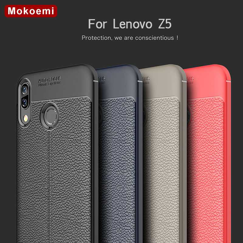 Mokoemi Fashion Lichee Pattern Shock Proof Soft sFor Lenovo Z5 Case For Lenovo Z5 Cell Phone Case Cover