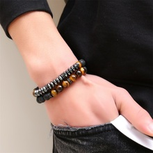 ФОТО j.hangke brand new fashion pave cz bracelet 8mm stone beads with hematite bead diy charm bracelet for men women jewelry