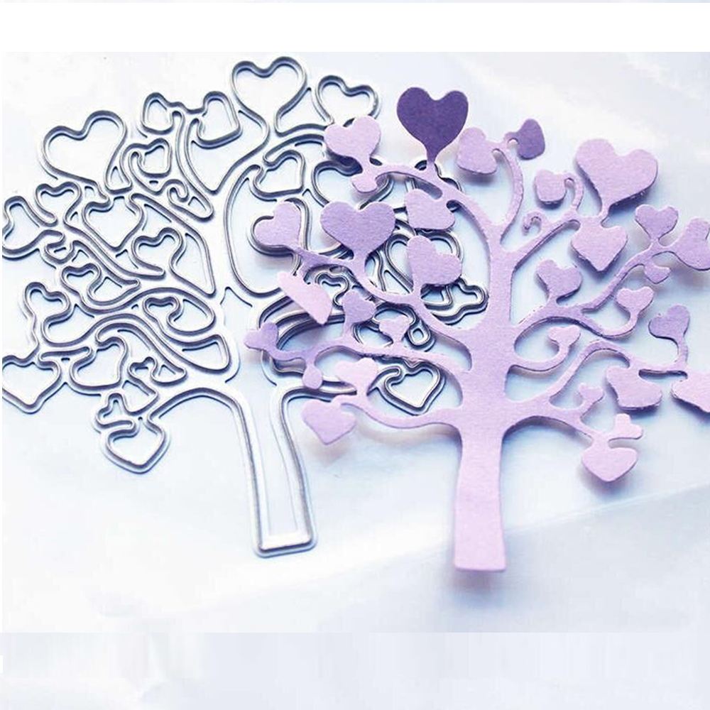 Bi fujian Love Tree Metal Cutting Dies Crafts Embossing Scrapbooking Dies Carbon Cuts Paper Card Stencil For Book albums Decor