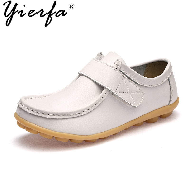 2018 new leather white shoes female casual shoes female flat bean shoes shallow mouth mother shoes aiyuqi 2018 spring new genuine leather women shoes shallow mouth casual shoes plus size 41 42 43 mother shoes female