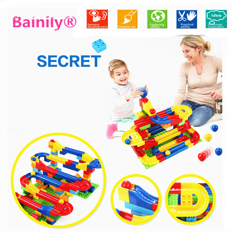 Bainily2017-Funny-DIY-Race-Run-Track-Colorful-Construction-Balls-Rolling-Track-Building-Blocks-Compatible-LegoINGly-Duploe-1