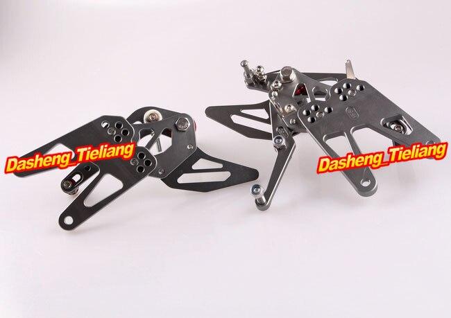 CNC регулируемый задний Набор подножки для Yamaha YZF R6 2003 2004 2005& R6S 2006-2009 Алюминиевый сплав серый