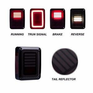Image 4 - Eua/ue edição reverser freio sinal de volta led luzes traseiras lâmpada conjuntos traseiros para jeep wrangler jk 2 & 4 porta 2007 2017 ponto