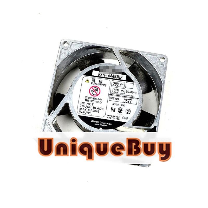 For OMRON R87F-A4A93HP 200V 10/9W 92*92*25mm Aluminum frame AC cooling fan free delivery 9225 inverter argon arc welding machine cooling fan small fan 92 92 25mm dc24v copper motor