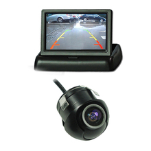 Easy install CCD 360 degree camera 4.3 Rearview Parking Monitor Folding Foldable TFT LCD video screen rear view reverse camera
