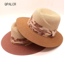 QPALCR Estate Calda Cappelli da Sole Donne Paglietta Cappello Della  Spiaggia Femminile Casual Panama Cappello Della Signora di M.. a0c54ab9c2f8