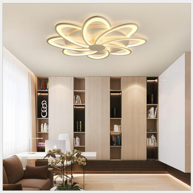 FULOC Acrylic Modern Led ceiling Chandelier lights classic For Living Room Bedroom Home Dec lampara de techo led moderna Fixture