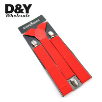 Free shipping-Men's Unisex Clip-on Braces Elastic Suspender 3.5cm Wide
