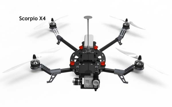 free shipping flycker scorpion x4 new rc quad copter multicopter carbon fiber frame kit fpv model