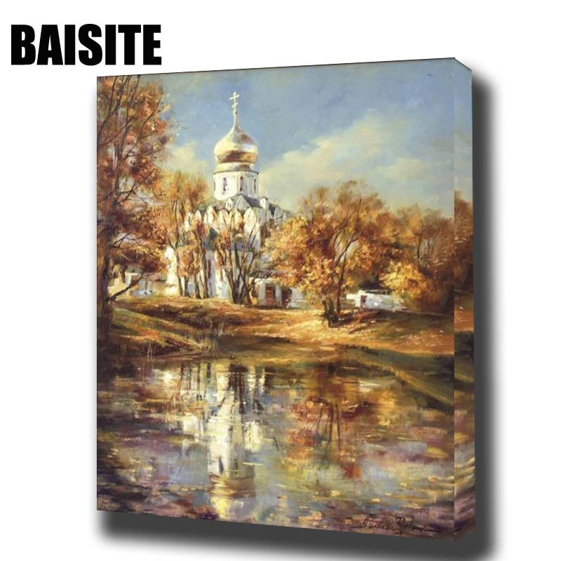 ⊱Baisite DIY pintura al óleo enmarcada por números paisaje pintura ...