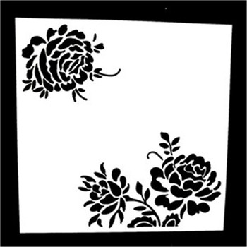 1Pcs Reusable Chrysanthemum Shaped Airbrush Painting Stencils DIY Home Art Decor Scrapbooking Album Crafts image
