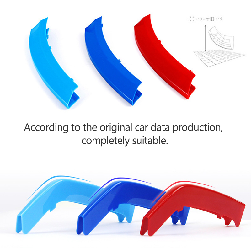 Image 4 - Atreus 3pcs 3D Car Front Grille Trim Strips Cover Motorsport Stickers For BMW F30 F10 3 5 Series M Power Performance Accessories-in Car Stickers from Automobiles & Motorcycles
