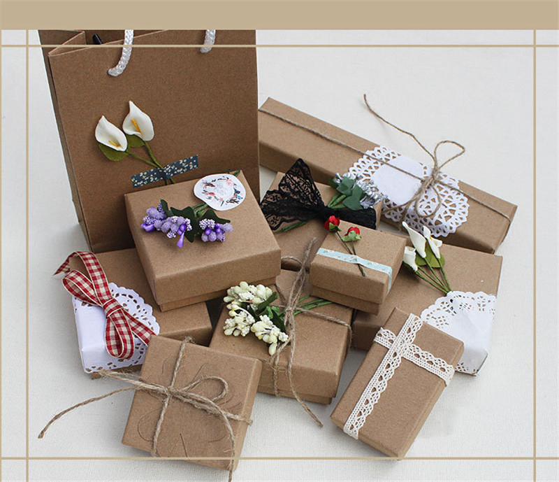 New Ancient Ways Kraft Paper Box A Variety Of Sizes