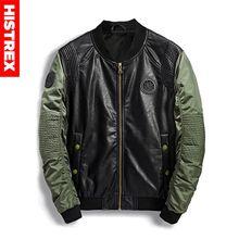 HISTREX 파일럿 군사 폭격기 남성 자켓 가을 겨울 가죽 데님 위장 육군 자켓 남성 코트 Streetwear # HJC5W