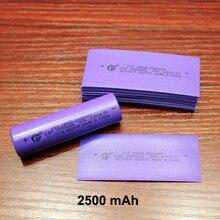 100 개/몫 18650 리튬 배터리 패키지 pvc 열 수축 필름 배터리 스킨 2500 mah 용량 표준 항공기 특별