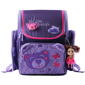 Delune kids cartoon backpacks school backpack children orthopedic school supplies school bags for girls kids backpack girls
