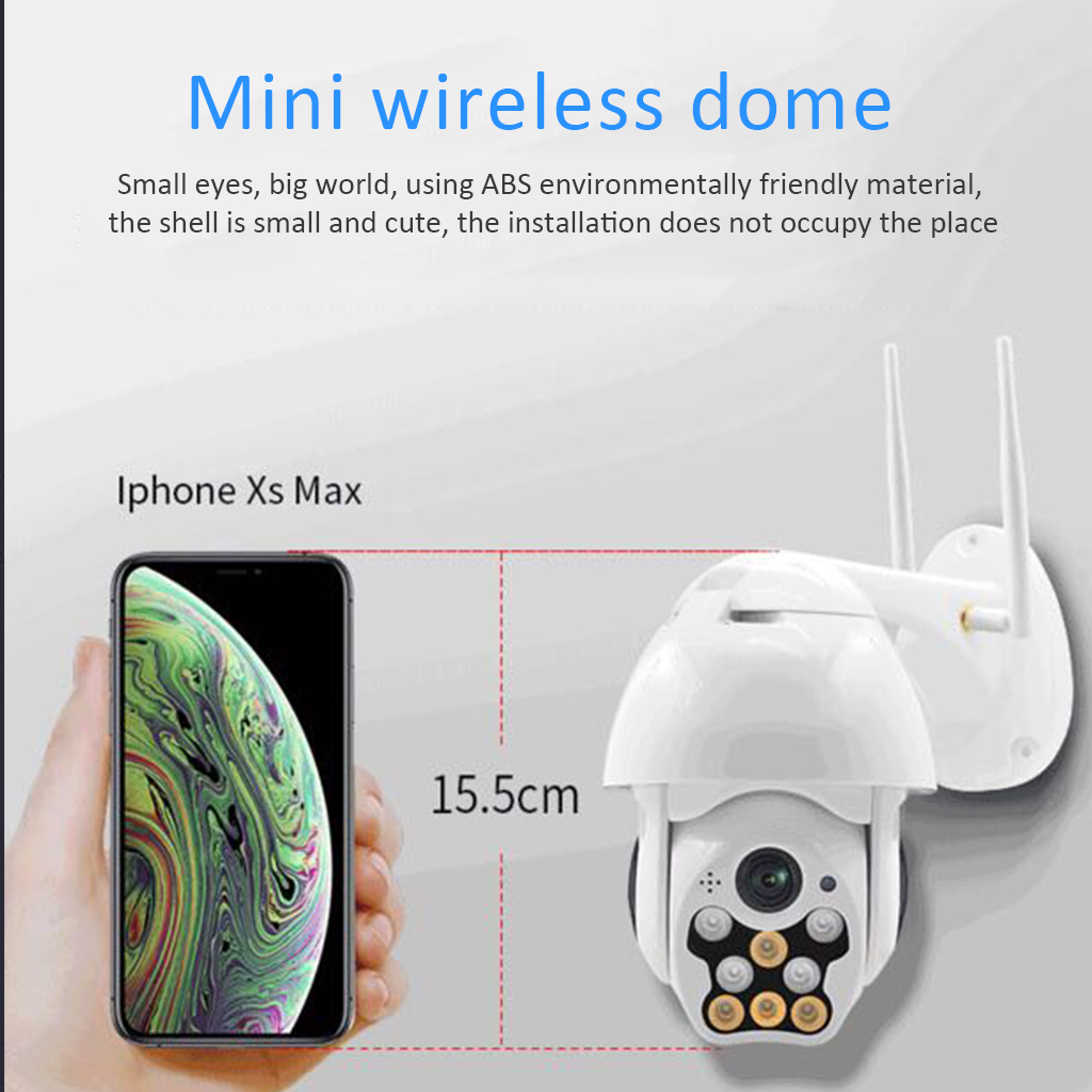 WIFI Camera Outdoor PTZ IP Camera H 265X 1080p Speed Dome CCTV Security Cameras IP Camera WIFI Exterior 2MP IR Home Surveilance in Surveillance Cameras from Security Protection