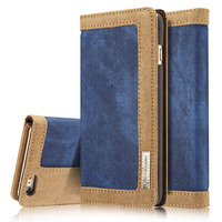 Luxury Magnetic Wallet Case For Apple IPhone 6 6S Flip Cover Jeans Leather Stand Phone Bags