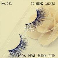 New 1 Pair Hand Made Natural Long 3D Mink Fur Fake Eyelashes Makeup Beauty And Healthy