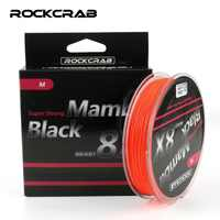 RockCrab Brand Black Mamba 8X Series 150M 164Yards 8 Strands multifilament PE Line Braided Fishing Line Super Strong Smooth