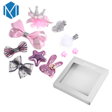 M MISM 1 Sst=10 Pcs New Design Lovely Crown/ Heart Headwear Set With Box For Princess Girls Gift Party Hair Clips Accessories