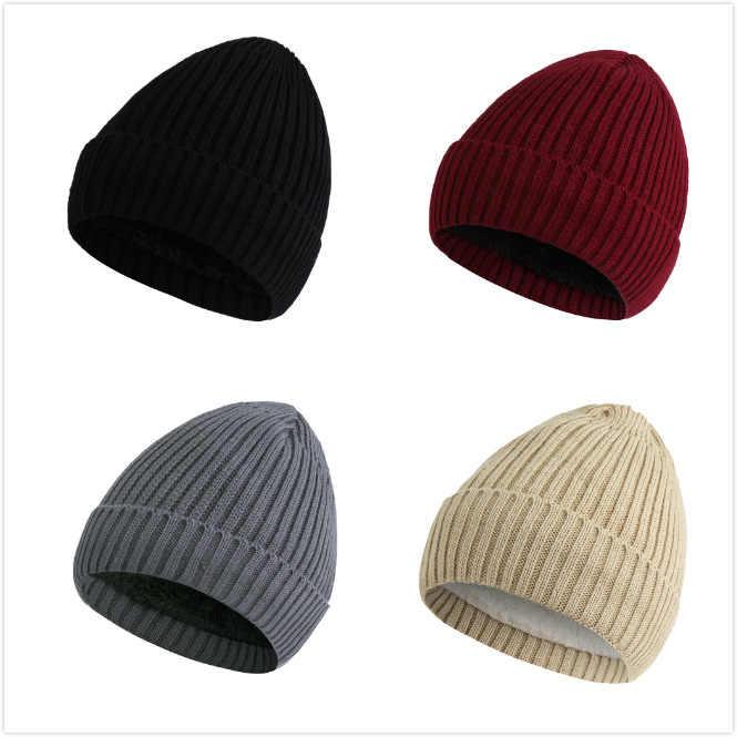 ea9d4456588 ... PADEGAO Unisex Wool Blend Striped Knit Beanie Hats for Women Men Winter  Warm Ski Cap Grey ...