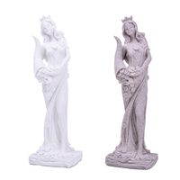 Abstract Fortune Goddess Statues Sculpture Ornament Handmade Sandstone Wedding Decor Gift for Craft Sculpture Living Room