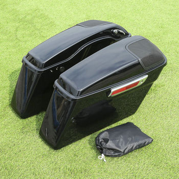 Motorcycle Saddlebag W/ Cutout Speaker Grill For Harley Touring FLT FLHT Electra Street Glide Road King 2014-2019