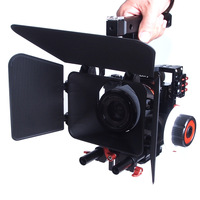 Aluminum Alloy Handheld Camera Video Support Kit DSLR Cage Set with Follow Focus Matte Box For Sony A7S A7 A7R A7RII A7SII GH4