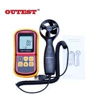 GM8901 0~45m/s High Accuracy Anemometro LCD Display Digital Anemometer Wind Meter Air Velocity Temperature Meter