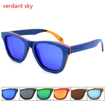 2017 New hot sale sunglasses men classic skateboard wood sun glasses fashion summer polarized sunglasses Women  oclos de sol